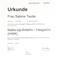 Stattlich geprüfte Make-Up-Artistin / Visagistin (HWK)